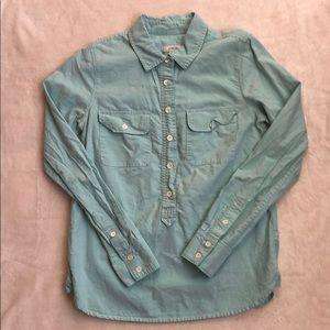 J. Crew Light Blue Long Sleeve Button Up Shirt